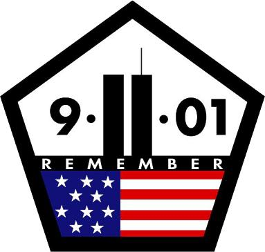 5-sided 9-11-01 remembrance logo